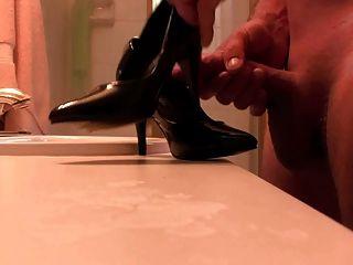 Black Pumps Cum Covered