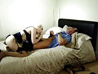 British Slut Val Gets Fucked On The Bed In Stockings