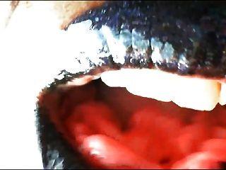 Mistress Onyx - Black Lipstick Fetish Bubblegum Chew