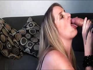 Blonde With Great Big Tits In Fishnets Sucking And Fucking