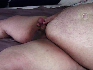 Superchub Jerking Off Small Cock