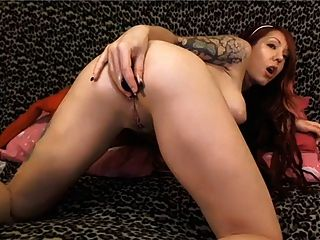 Hot Young Redhead Fucks Her Holes On Cam
