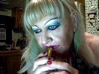 Paula Doing A Touchup. Ts  Makeup Trick