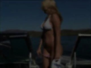 Alison - On A Boat Show Her Tits