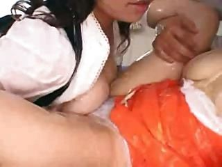 Bt Japs In Schoolgirl Jumpers Ffm Covered In Lotion Part 1