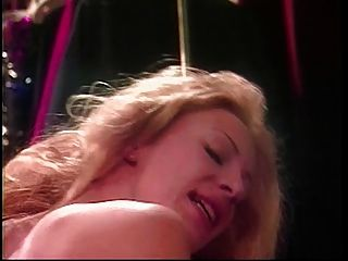 Blonde Lesbian Fuck With A Strap On In Green Room