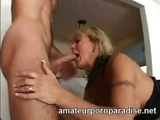 Classy Cougar Gets A Face Full Of Cum