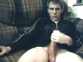 Hung White Lad Wanks Off For You