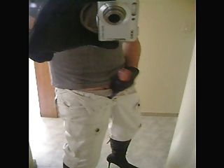 Men In Womens Boots Masturbation!
