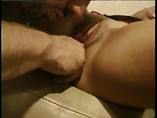 Horny Blonde Sucks Cock While Second Dude Fucks Her Doggy-style
