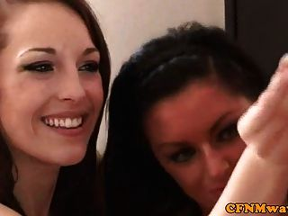 Group Cfnm Young Babes Jerking Old Man Off