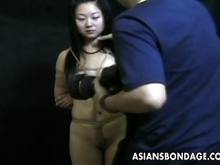 Asian Teen Bound Up And Hung From The Ceiling