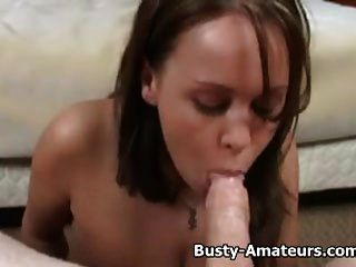 Busty Brandy Handjob And Blowjob