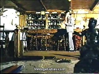 Greek Threesome Fucking At The Bar (1970s Vintage)