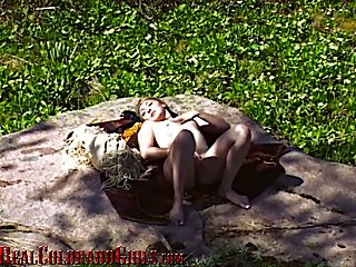 Beautiful Young Latina Masturbates In A Secluded Meadow