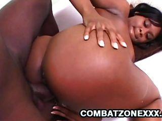 Nazar - Big Black Dick Drilling An Ebony Twat