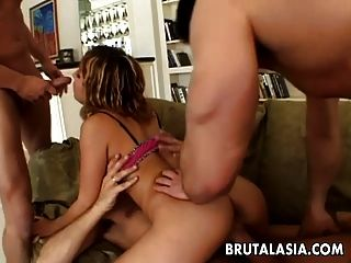 Ass Sucking The Babe In A Nasty Foursome Session