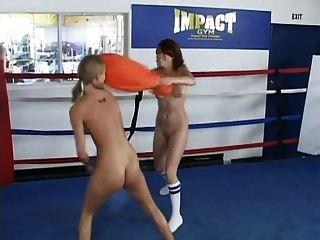 Naked Pillow Catfight