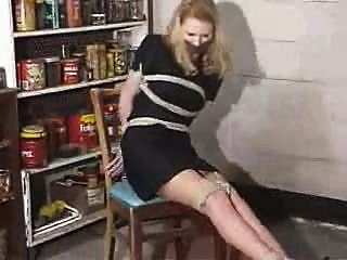 Blonde Reporter In A Store Room