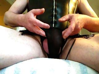 Cd Cumming In Black Corset
