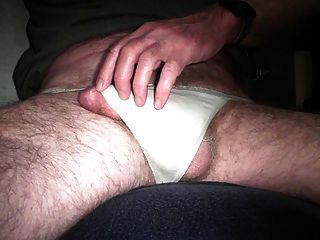 Getting Hard , Cumming In White Thong Panties