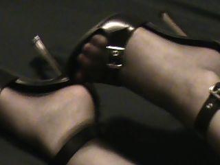 Sexy Zebra Print Dress Black Heels And Backseams