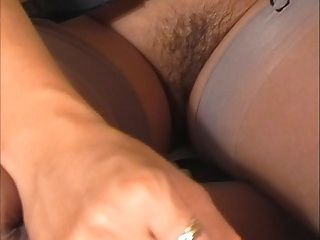 Hot Brunette Hand And Blowjob