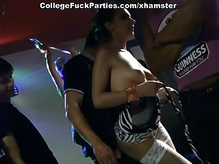 Lewd Students Fuck In The Ass At A Party