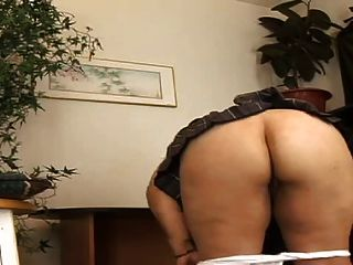 Chubby Asian Strips And Masturbates