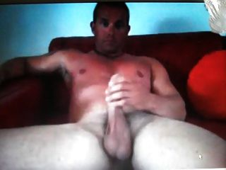 Hot Straight Muscle Stud Jerking His Thick Cock On Cam