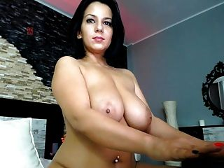 Gorgeous Brunette With Great Body And Tits