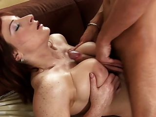 Redheas Hairy Pussy And Bouncing Tits