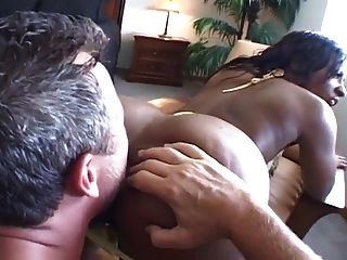 Huge Booty Ebony Interracial Anal Fuck