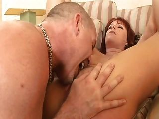 Redhead-milf Is-shared-by 2 Hard-studs