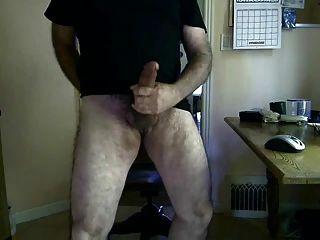 Big Dick Silver Daddy Bear Cumming