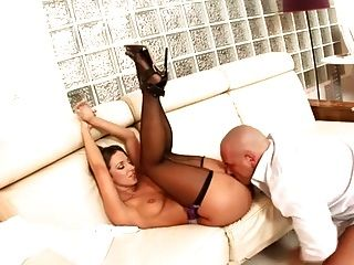 Secretary Jada Stevens Fucking In Black Stockings