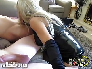 Slutty Blonde Milf Sucks And Fucks Group Cock For Hot Spunk