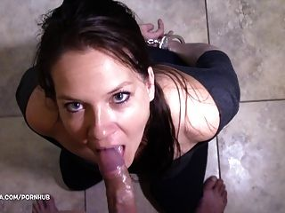 Handcuffed, Sloppy, Gagging Blowjob - Azzurra