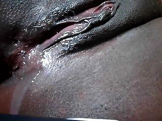 Ebony Pussy Dripping