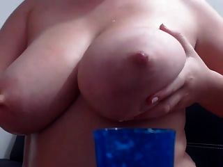 Ugly Cam Bitch Milks Her Tits