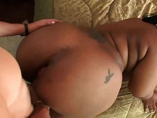 Huge Black Bbw Ass Fucked By White Dick.