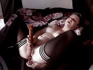 Scene Girl Uses Dildo And Vibrator On Bed