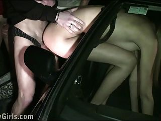 Kitty Jane Public Street Gangbang With Random Guys
