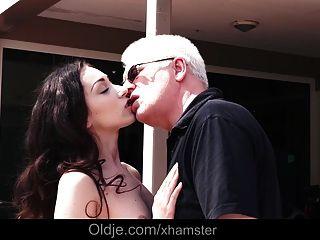 Grandpa Fucks  Teen Not Step-sister Pussy Cum Swallow