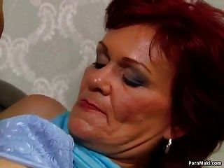 German Granny Loves Anal