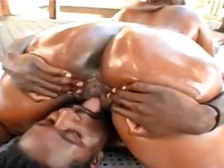 Ebony Bbw With Big Black Nipples Sucking And Fucking