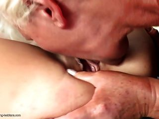 Granny Gets All Her Holes Licked By Teen Girl