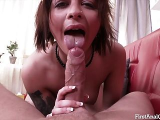 First Time Anal Sex For The Beautiful Rebecca Rainbow