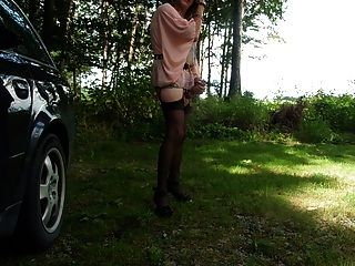 Tranny On A Parking Place In The Forrest