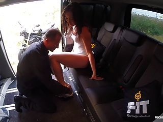 Fuckedintraffic - Brunette Czech Gets Fucked In Hot Car Sex
